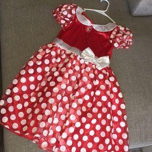 Disney Minnie Mouse Costume Dress Up Medium 8-10